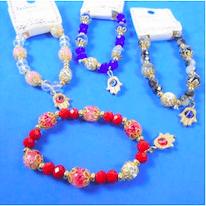 Bracelets_Marble_Crystal_Bead_Stretch_Hamsa_Charm