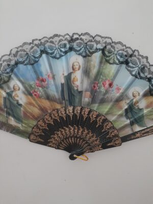 Lace Fabric Fan w/ St. Jude