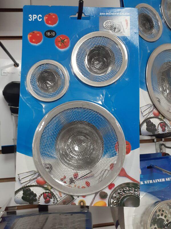 3Pc Sink Strainer Set